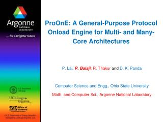 ProOnE: A General-Purpose Protocol Onload Engine for Multi- and Many-Core Architectures