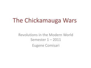 The Chickamauga Wars
