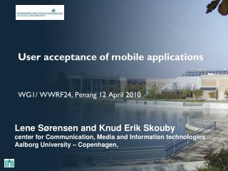User acceptance of mobile applications