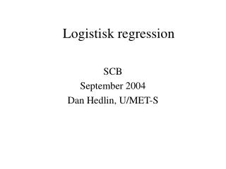 Logistisk regression