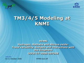 TM3/4/5 Modeling at KNMI