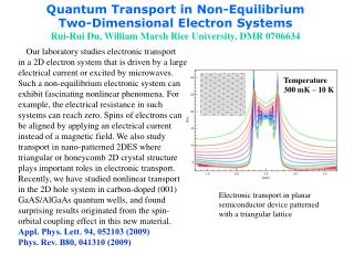 Quantum Transport in Non-Equilibrium  Two-Dimensional Electron Systems