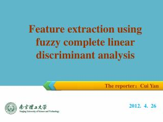Feature extraction using fuzzy complete linear discriminant analysis