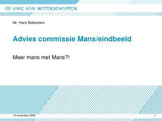 Advies commissie Mans/eindbeeld