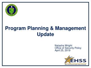 Program Planning & Management Update