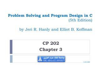 Problem Solving and Program Design in C  (5th Edition) by Jeri R. Hanly and Elliot B. Koffman