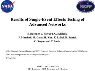 Results of Single-Event Effects Testing of Advanced Networks