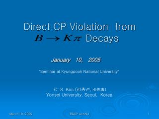 Direct CP Violation  from               Decays