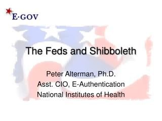 The Feds and Shibboleth