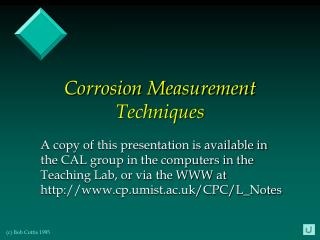 Corrosion Measurement Techniques