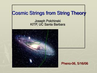 Cosmic Strings from String Theory