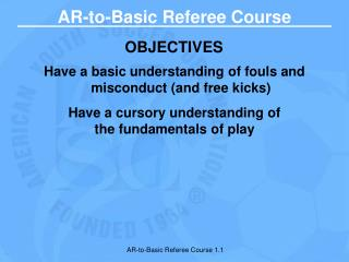AR-to-Basic Referee Course