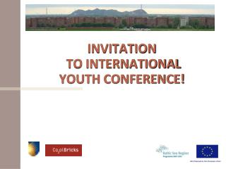 INVITATION  TO INTERNATIONAL  YOUTH CONFERENCE!