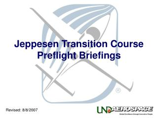 Jeppesen Transition Course Preflight Briefings
