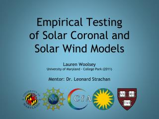 Empirical Testing  of Solar Coronal and  Solar Wind Models