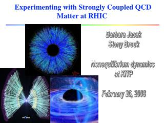 Experimenting with Strongly Coupled QCD Matter at RHIC