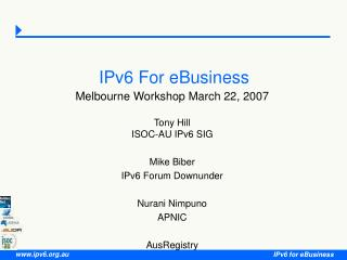 IPv6 For eBusiness