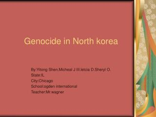 Genocide in North korea