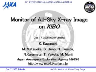 Monitor of All-Sky X-ray Image on  KIBO