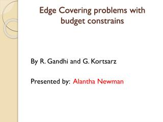 Edge Covering problems with budget constrains