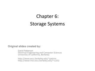 Chapter 6: Storage Systems