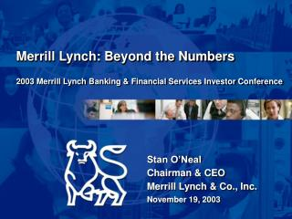 2003 Merrill Lynch Banking & Financial Services Investor Conference