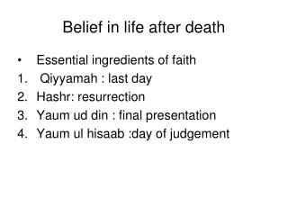 Belief in life after death