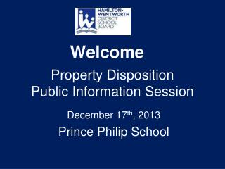 Property Disposition Public Information Session