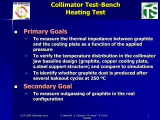 Collimator Test-Bench      Heating Test