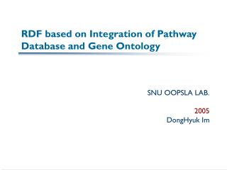 RDF based on Integration of Pathway Database and Gene Ontology
