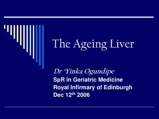 The Ageing Liver