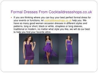 Seek Out Dream Formal Dresses From Cocktaildressshops.co.uk