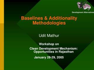 Baselines & Additionality Methodologies