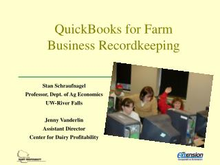 QuickBooks for Farm Business Recordkeeping