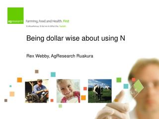Being dollar wise about using N