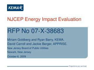 NJCEP Energy Impact Evaluation