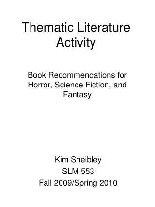 Thematic Literature Activity