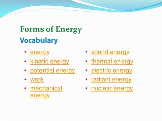 energy kinetic energy potential energy work mechanical energy