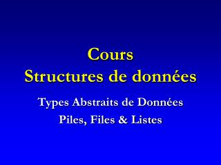 Cours Structures de données