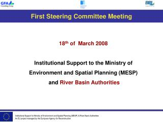 First Steering Committee Meeting