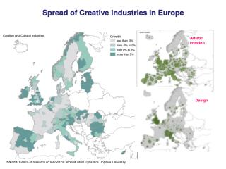 Spread of Creative industries in Europe