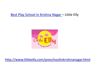 Best Play School in krishna Nagar