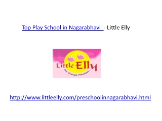 Top Preschool in Nagarabhavi