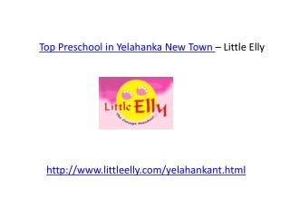 Top Preschool in Yelahanka New Town