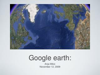 Google earth: