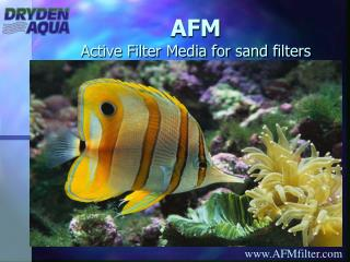 AFM Active Filter Media for sand filters