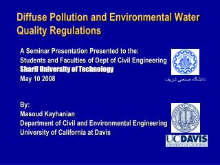 Diffuse Pollution and Environmental Water Quality Regulations