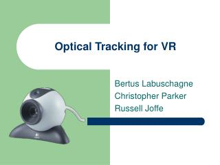 Optical Tracking for VR