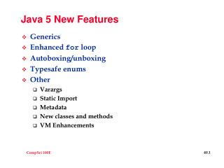 Java 5 New Features