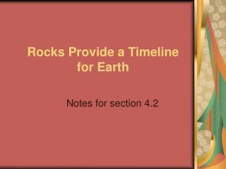 Rocks Provide a Timeline for Earth